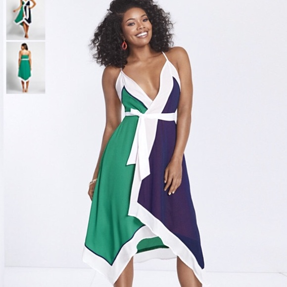 bcb2fc020e1 Gabrielle Union Collection - Colorblock Wrap Dress